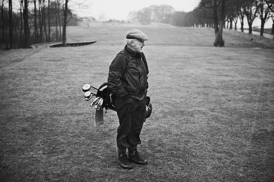 Golf player at Aarhus Golf Club, Denmark