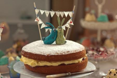 wedding cake bunnies