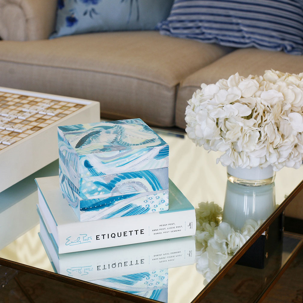 Place an Art Stack on top of a book and on a coffee table!