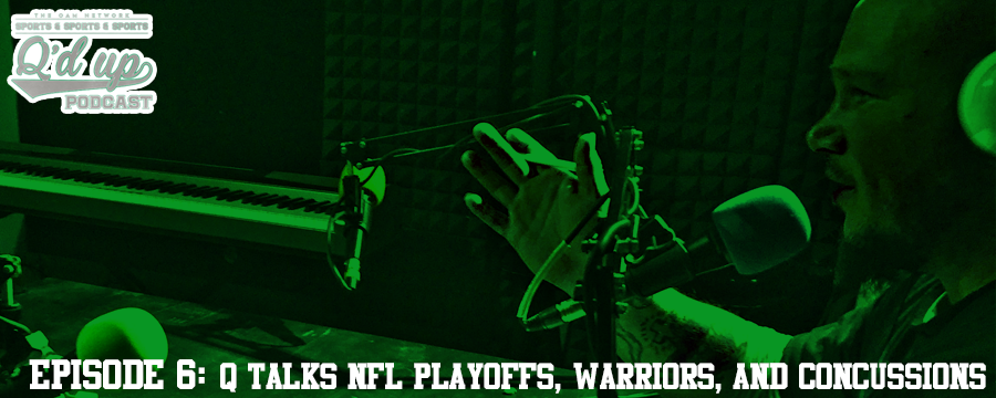 The NFL playoffs heat up. Who will beat the panthers? I break down concussions.  Concussions , Warriors lose, NFL playoff seedings being battled for. Who wins this week?