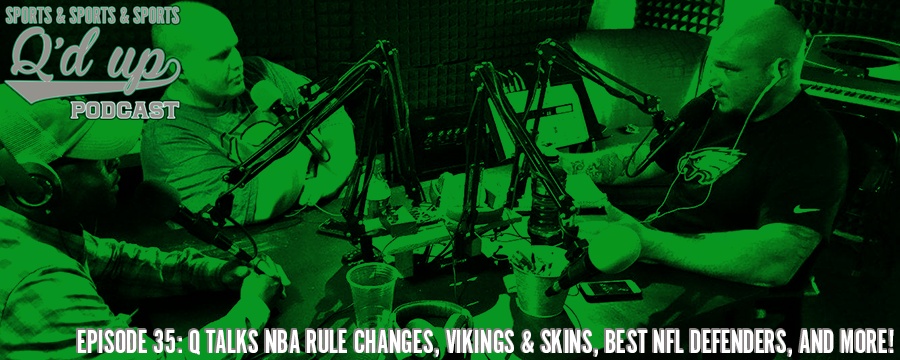 Q is joined by CJ and Greg to talk about the NBA rule changes, who the best NFL defenders of all time are, the Vikings & Skins, and MUCH MORE!  Check out Side Street Grill @ 31 Florence right here in Memphis, TN. Great food, GREAT DRINKS!
