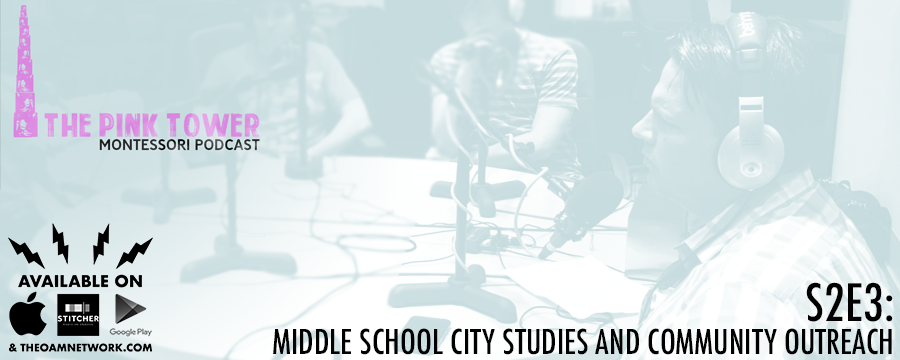 We talk to Anne Andrews and Racheal Grant about Middle School city studies and community outreach in Montessori. We also talk to Ginger Spickler from Crosstown High about how their programs continue this mission.