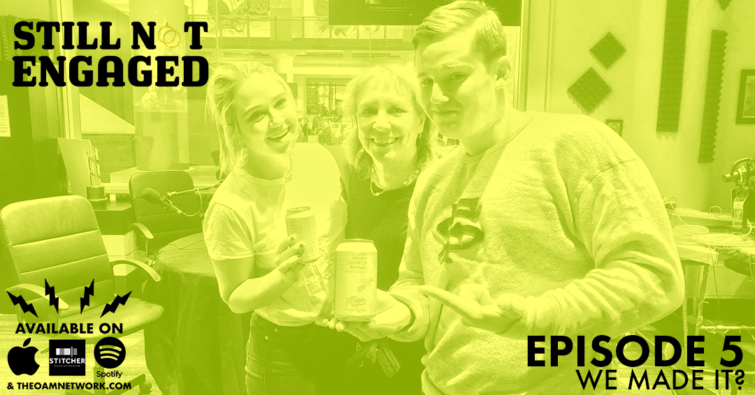 On THE MOST DRAMATIC episode of Still Not Engaged yet, Jess and Chris  try to convince a new beverage company, Koios, (drink it! buy it! love  it!) to sponsor their podcast. They have their first guest! Kind of.  Jess laughs so hard she cries. Find out if they're going to be a  matching pajama family or a Christmas card family. Enjoy a very heated  debate on Applebee's vs. Outback Steakhouse. They talk about The  Bachelor and 101 Questions To Ask Before You Get Engaged.