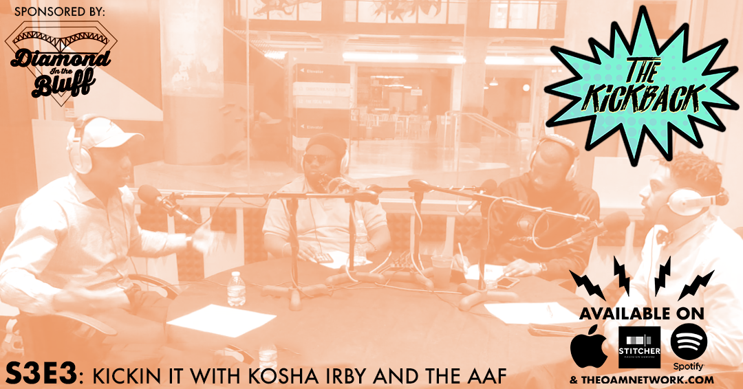 Terez joins Jamal and J.O as Kosha Irby, the Team President for the Memphis Express in the new American Allegiance of Football league, stops by to talk his career path, what it was like to work in the WWE and what we can expect from the Express and the league in general in this inaugural AAF season. We talk about what sets the AAF apart from other start up football leagues.  Sponsor:  Diamond in the Bluff Productions- Changing the bar entertainment and trivia landscape in Memphis. Check them out on Facebook for trivia topics and locations:  www.facebook.com/DiamondintheBluff
