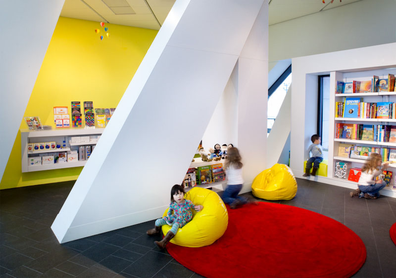 Open Modern Museum Shop Kids Area   Casework Interior Design   Portland, OR