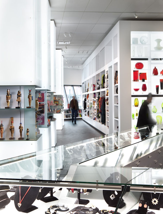 Open Modern Museum Shop | Casework Interior Design | Portland, OR