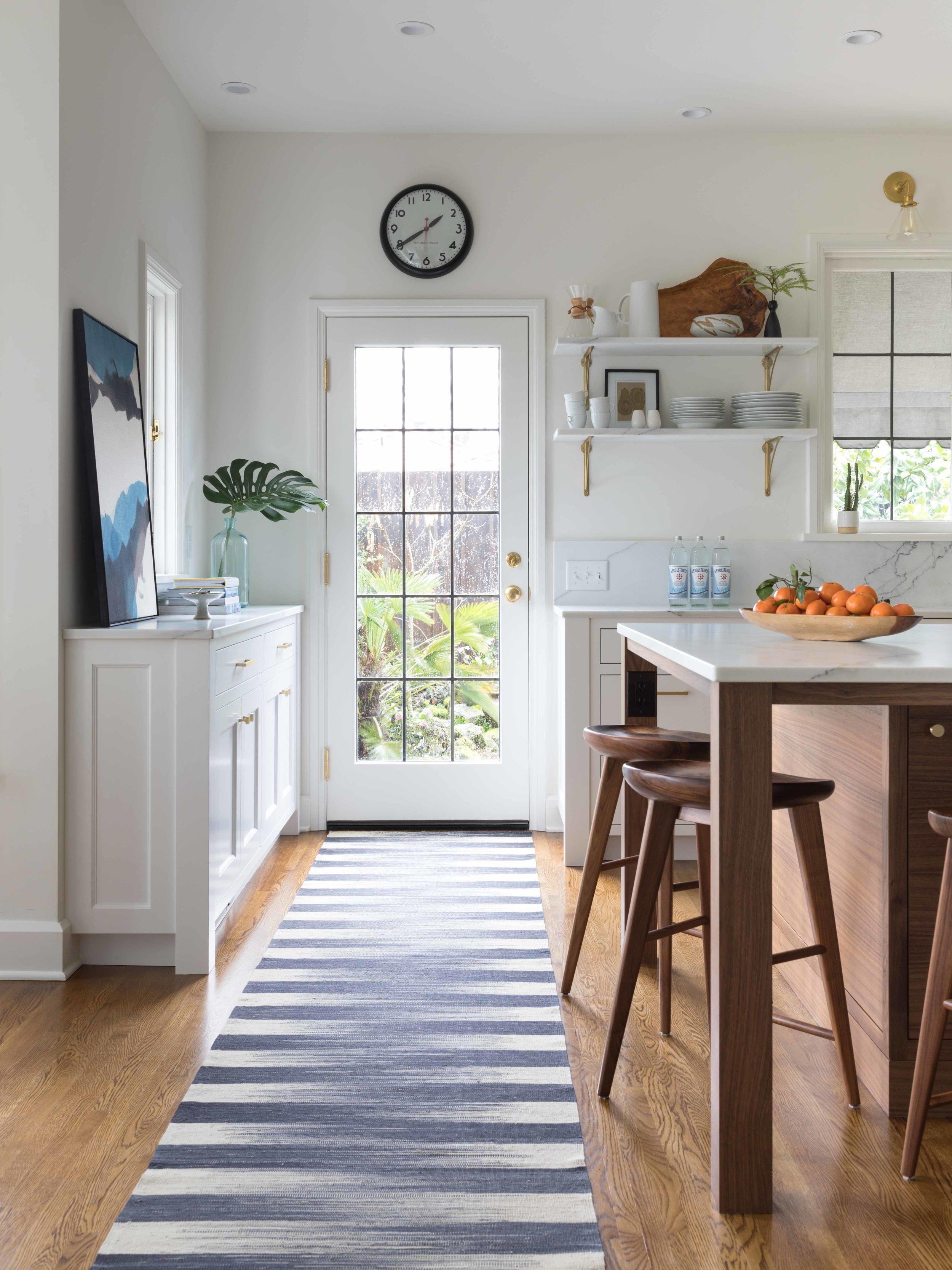 Open Bright Kitchen with Custom Island & Brass Details | Casework Interior Design | Portland, OR