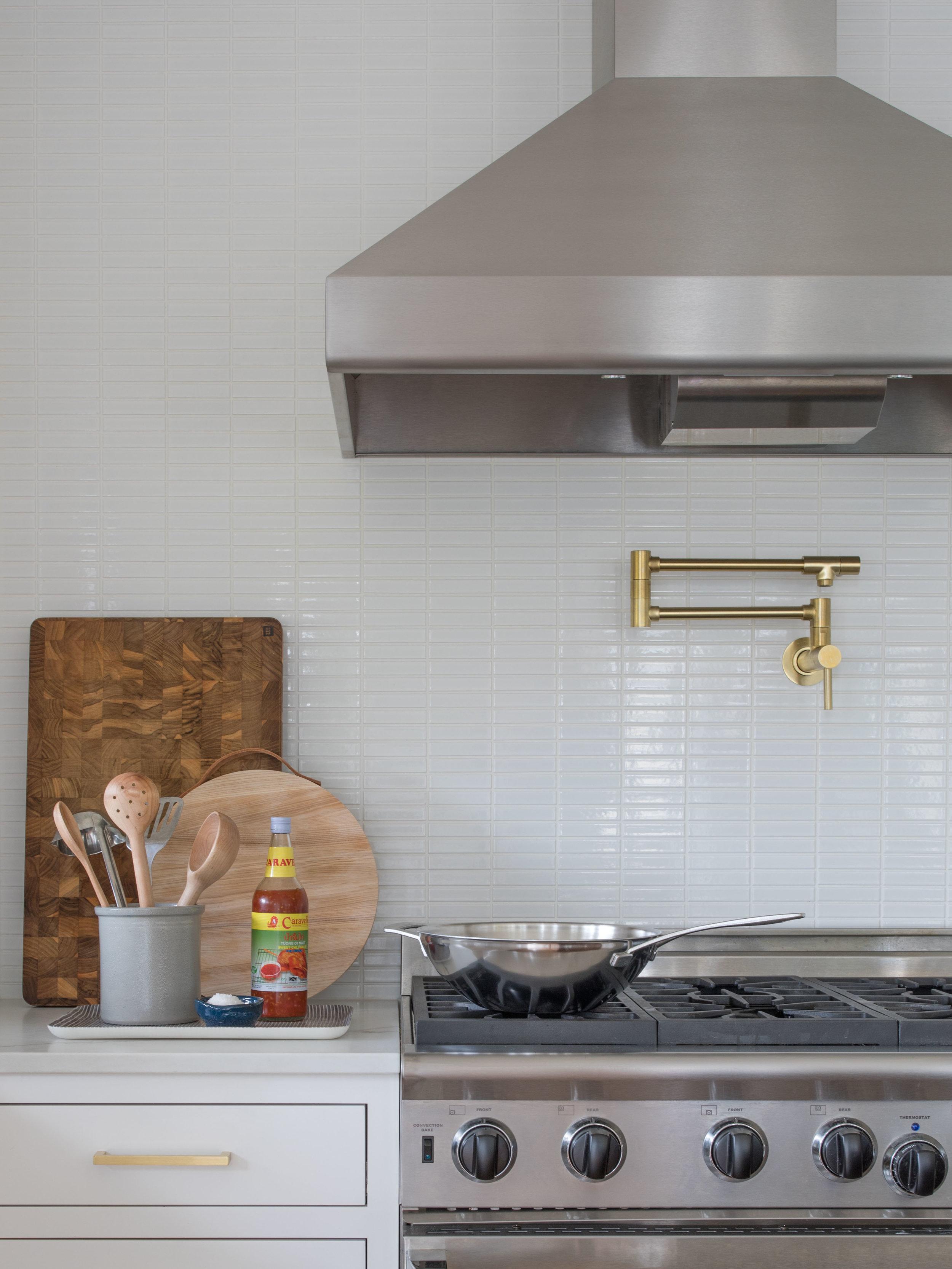 Open Bright Kitchen with Brass Details | Casework Interior Design | Portland, OR