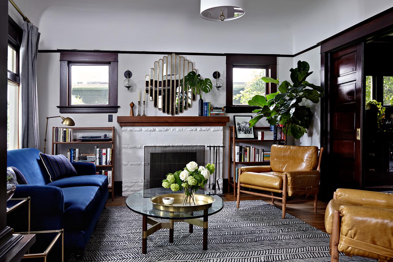 Neutral & Texture Rich Living Room | Casework Interior Design | Portland, OR