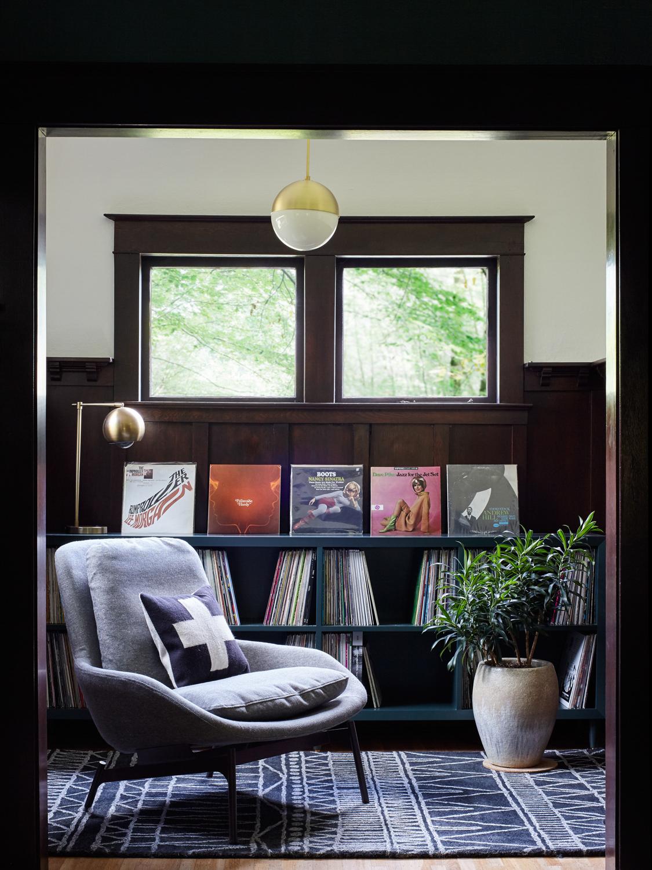 PNW Record Room | Casework Interior Design | Portland, OR