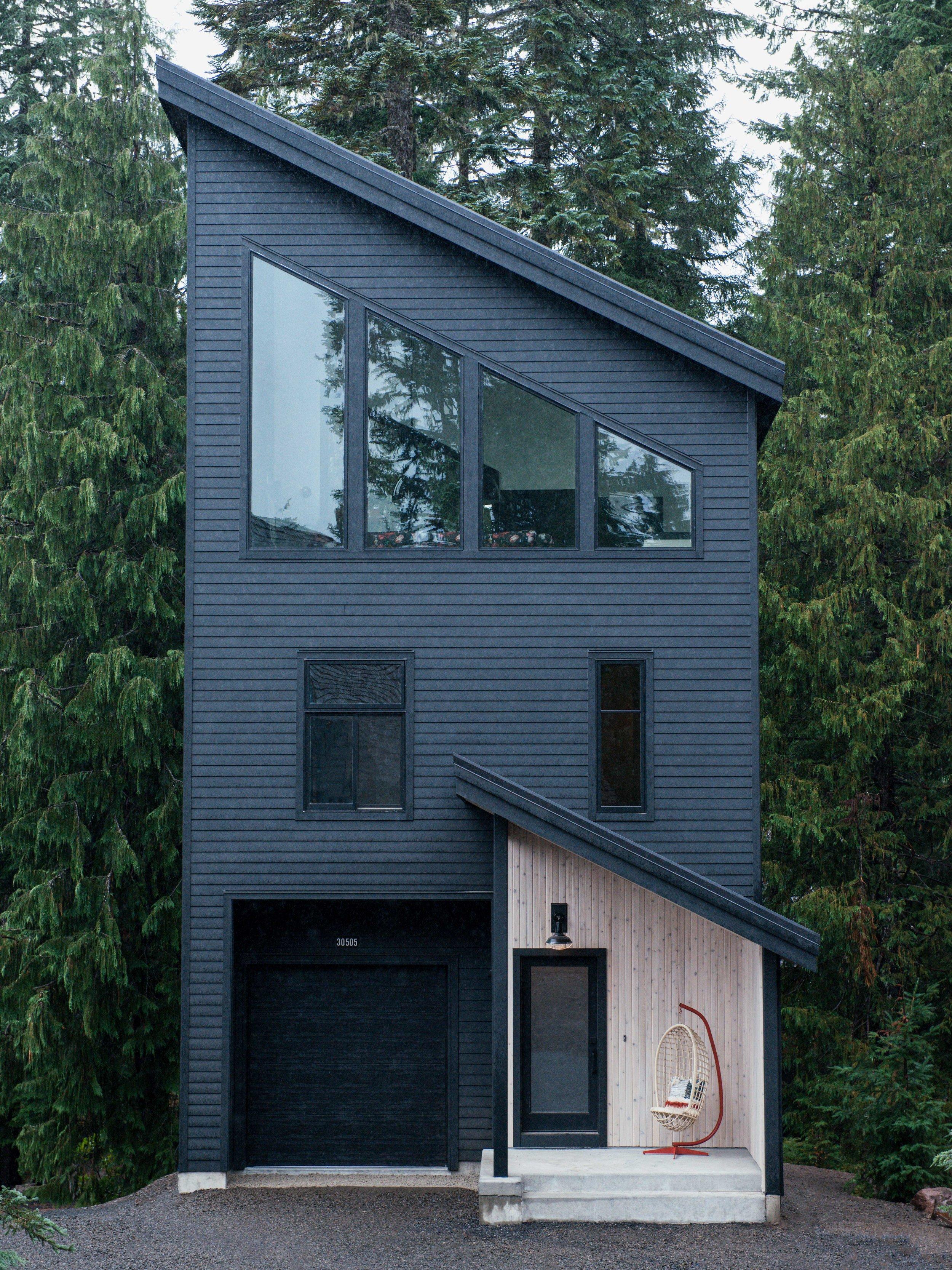 Modern Black PNW Mountain Cabin | Casework Interior Design | Portland, OR