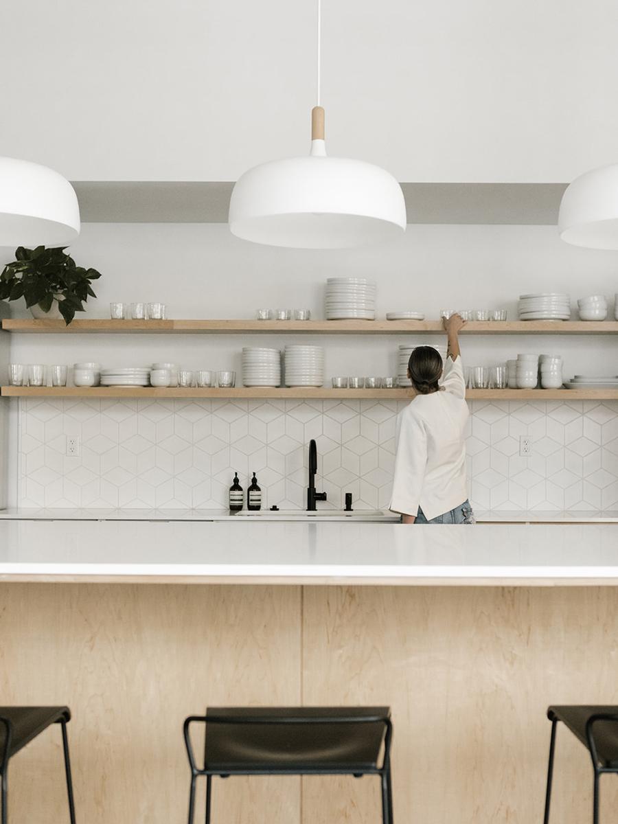 Bright Open Office Break Room | Casework Interior Design | Portland, OR