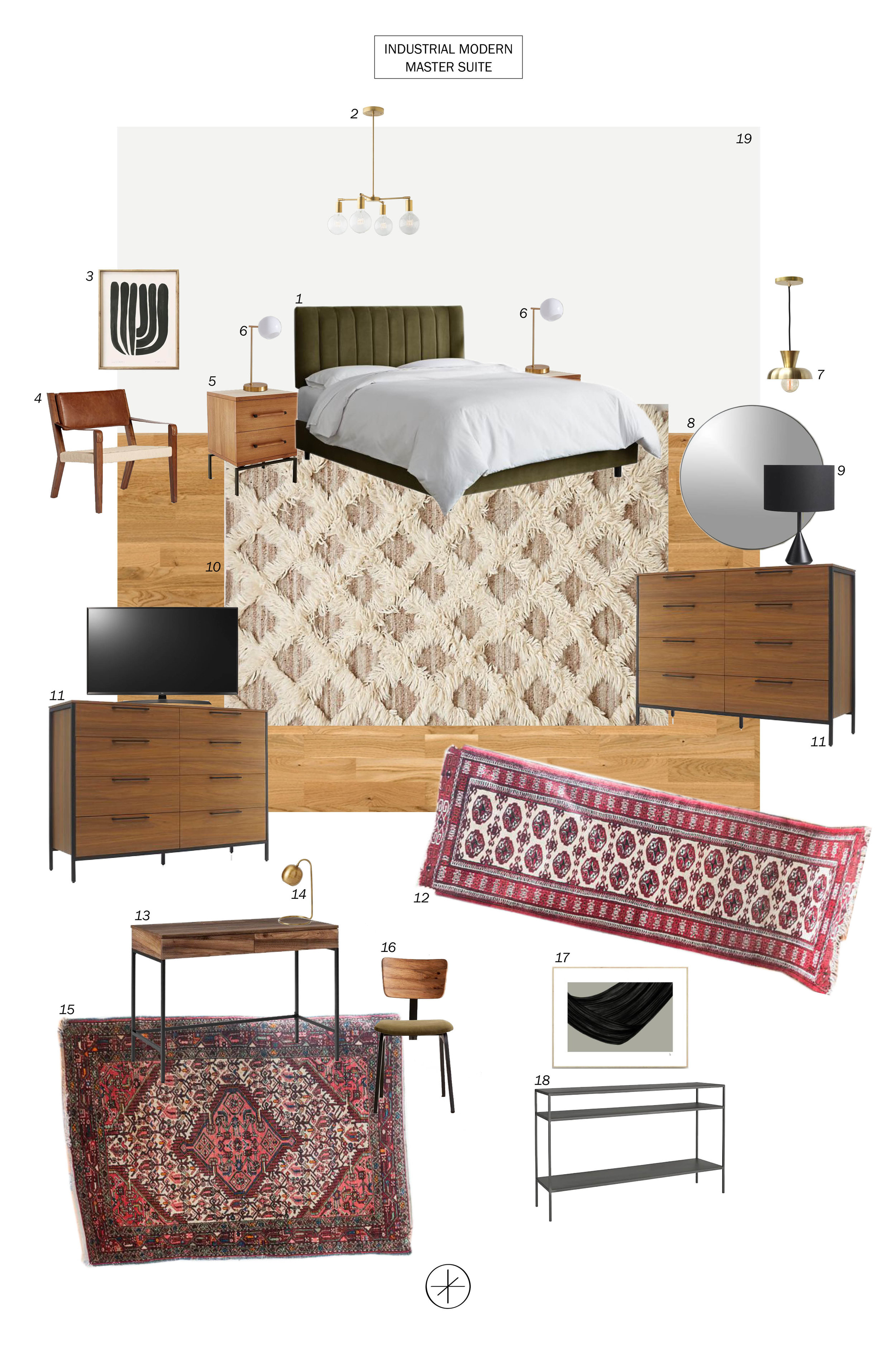Industrial Modern Master Suite by Casework Interior Design
