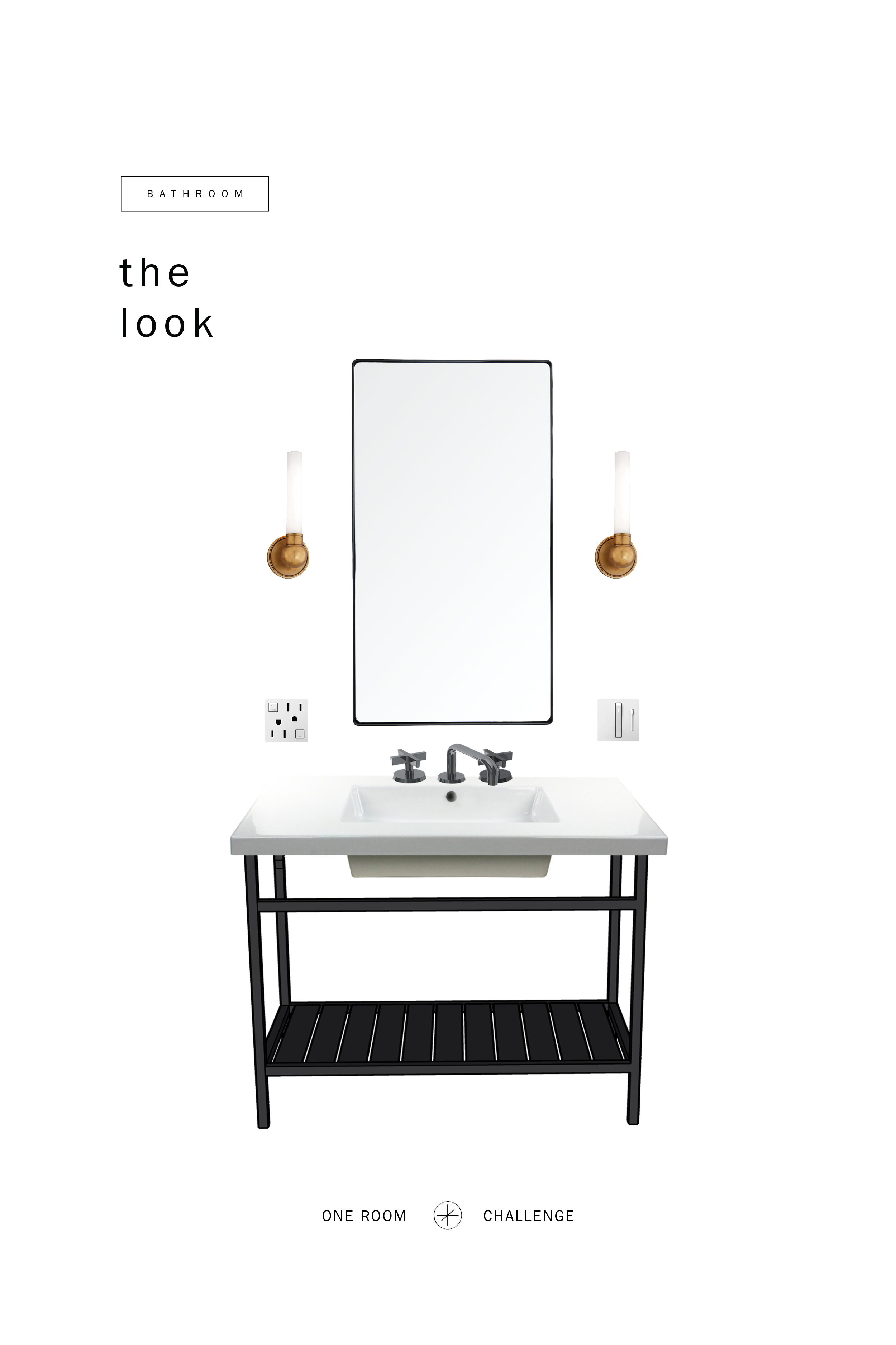 GET THE LOOK:     Sink ,  Faucet ,  Mirror  , Sconce