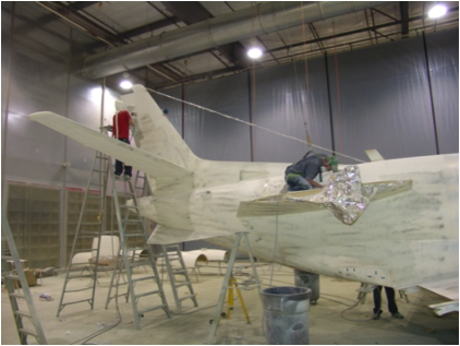 Aerospace: aircraft refinishing