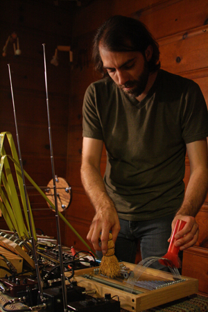 Bryan Day  is a improviser, instrument inventor, illustrator and installation artist based in Richmond, CA. His work involves combining elements of the natural and man-made world using field recordings, custom audio generation software and homemade instruments. Day's work explores the parallels between the patterns and systems in nature to those in contemporary society.  Day has toured throughout the US, Europe, Japan, Korea, Argentina and Mexico, performing both solo as Sistrum and Eloine and in the Shelf Life and Seeded Plain ensembles.  Festival appearances include Soundwave Festival (San Francisco, 2014), Thingamajigs Festival (San Francisco, 2013), New Media Sound and Art Summit (Austin, 2013), Milwaukee Noise Festival (Milwaukee, 2012), Denver Noise Festival (Denver, 2011), Heliotrope Festival (Minneapolis, 2010), Megapolis Festival (Baltimore, 2010), Denver Noise Festival (Denver, 2010), Transistor Festival (Denver, 2009), Quiet Music Festival (Cork, Ireland, 2008), Sonic Circuits Festival (Washington, D.C., 2007), Soundfield Festival (Chicago, 2005), and SubZero Festival (Minneapolis, 2001). Day has over 40 solo and ensemble releases on labels such as Creative Sources, Bug Incision, Friends and Relatives, Gameboy, Freedom From, Digitalis, Featherspines, Neus-318, Journal of Experimental Fiction, Unread, and Seagull.
