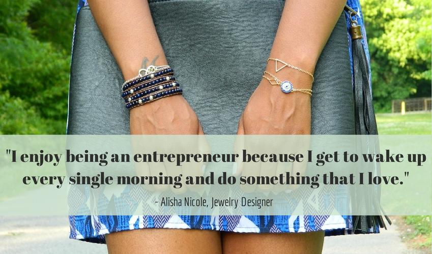 Cute LA Entrepreneur Spotlight Alisha Nicole Quote Jewelry Designer