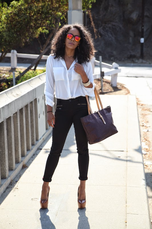Mellow World Tiffany Bag with Stitch Fix Subscription Jeans via Cute LA