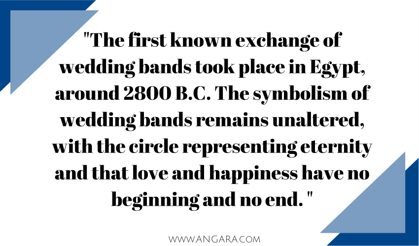 When the first wedding ring was exchanged via Angara Jewelry