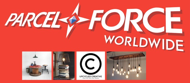 Parcelforce collaboration with Upcycled Creative Derby