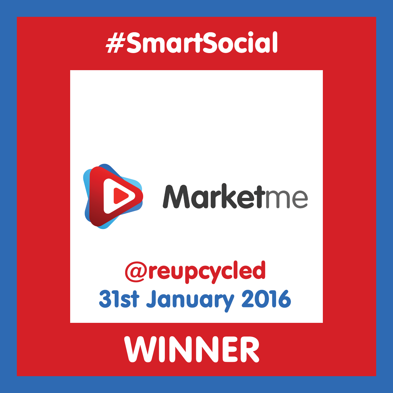 #SmartSocial WINNER Upcycled Creative