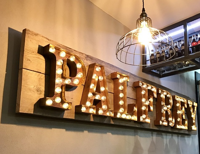 We wanted to help get The Palfrey's name in lights.