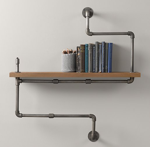 Industrial Shelving by Upcycled Creative