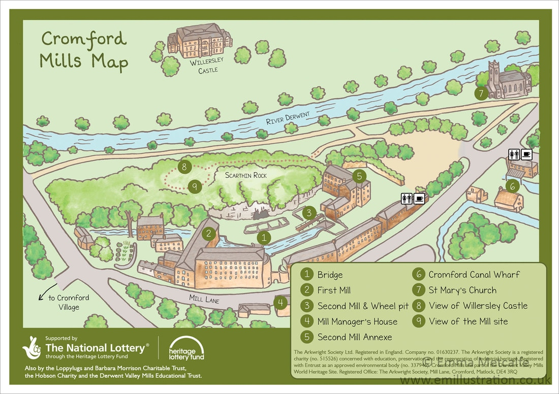 Cromford Mills Map Upcycled Creative Derbyshire