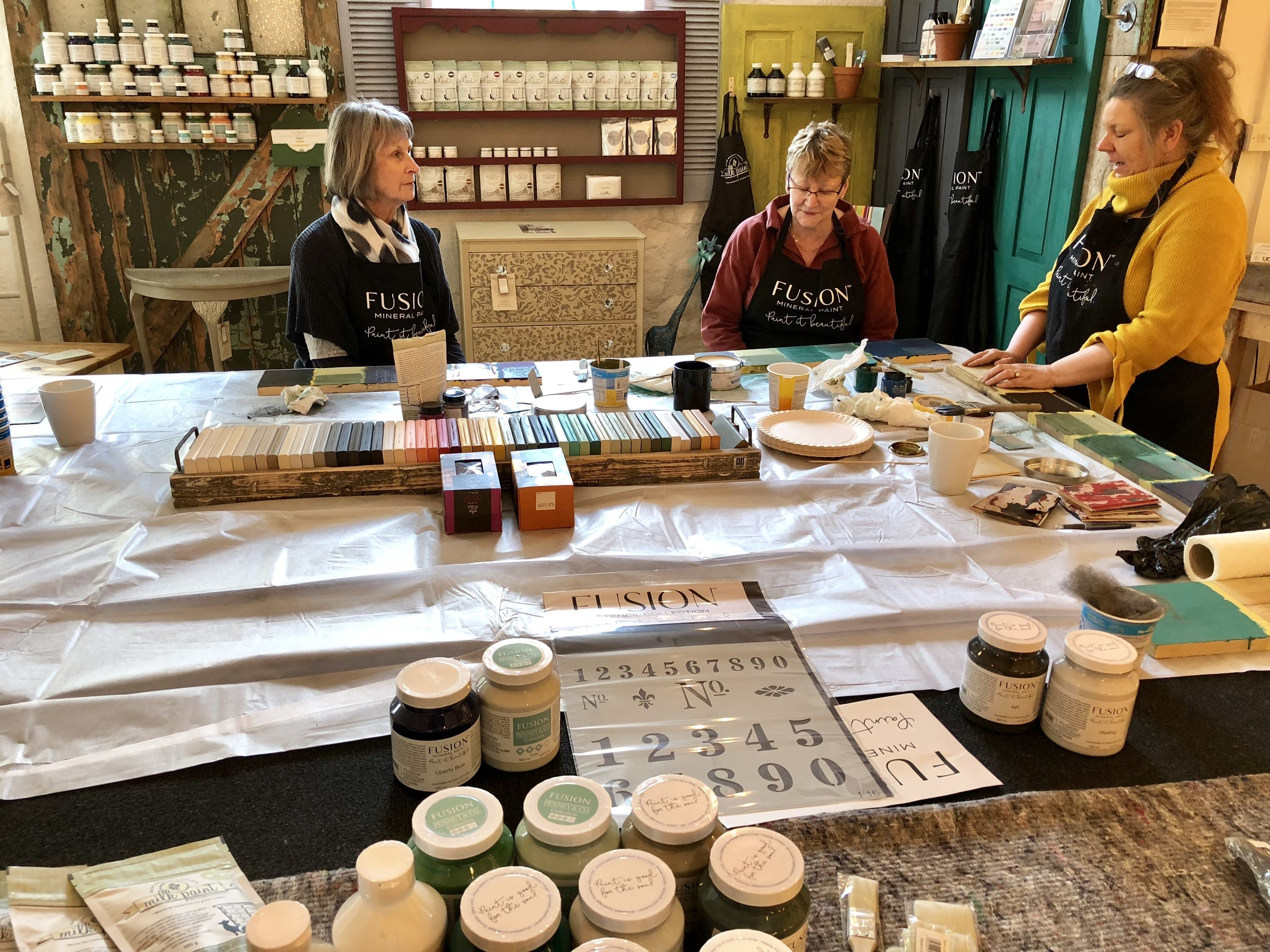 Fusion Mineral Paint Stockist Upcycled Creative Derbyshire