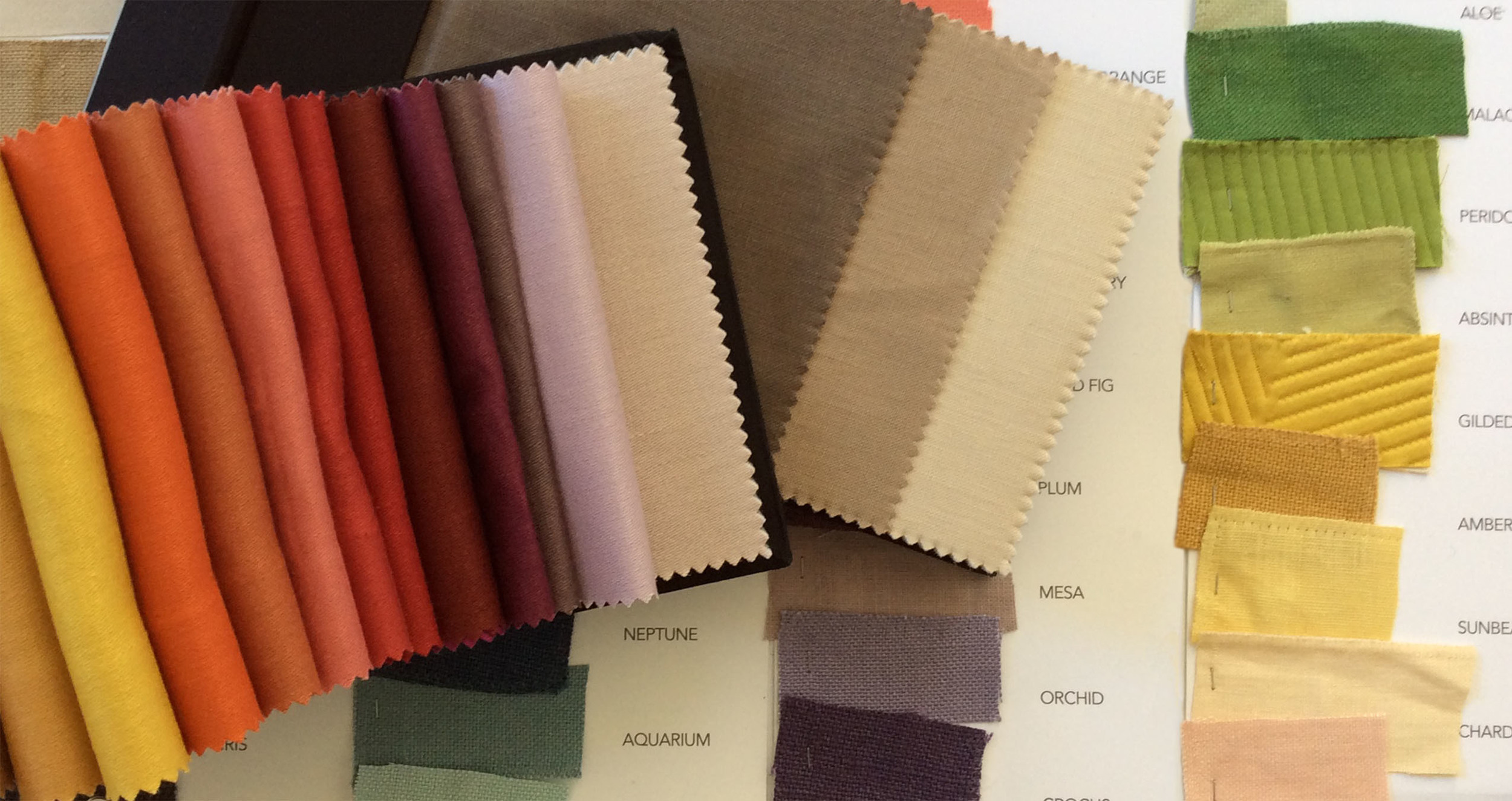 Mulberry Silks Ltd  - Two fifty-color ranges for linen plaincloths.
