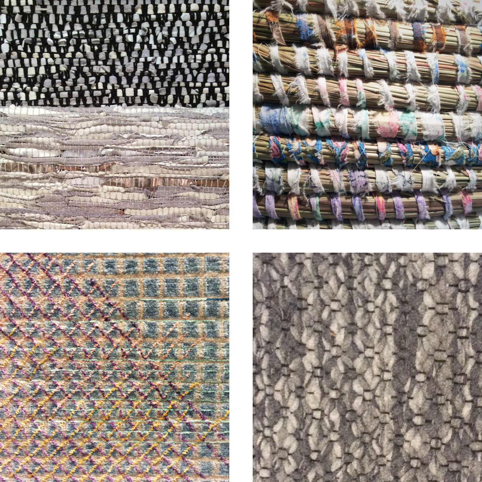 Heavy, rustic textures with plenty of organic variation were seen in rugs and baskets.