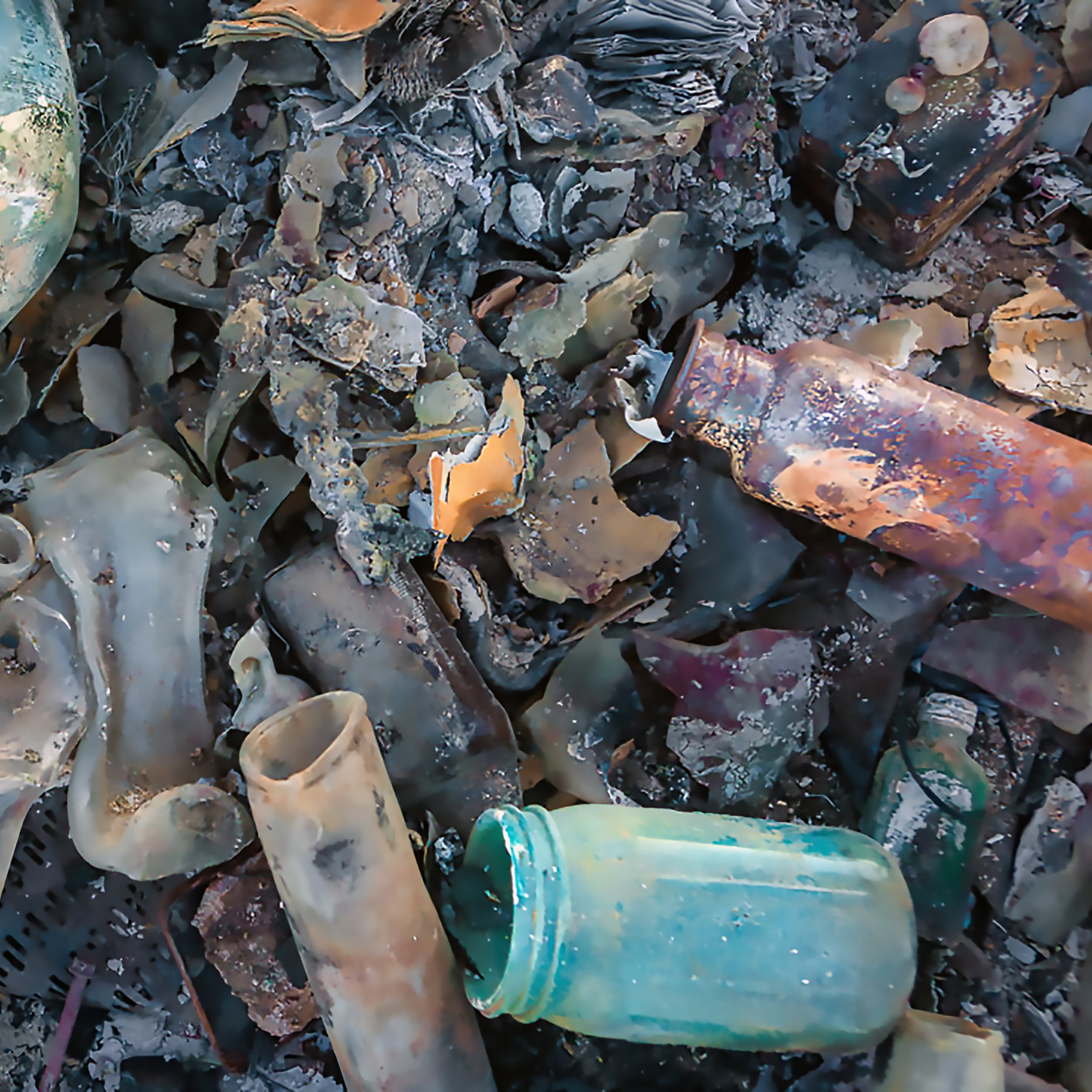 Photographer  Jonathan Clark , a friend and campmate, captured this magical image of post-burn detritus.