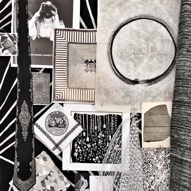 #blackandwhite inspiration board from a few years back. #textiledesign #inspiration #maquette #zamzambar #rosettastone