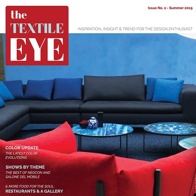 Issue 2 is here! Summer 2019: Salone del Mobile & Neocon  The second installment of The Textile Eye features over 130 pages of coverage of Salone del Mobile and Neocon, arranged by theme. Stay inspired and in-the-know! $79/quarter. #thetextileeye #trendspotting #textiledesign #designinspiration #ihavethisthingwithtextiles #neocon2019 #salonedelmobile2019