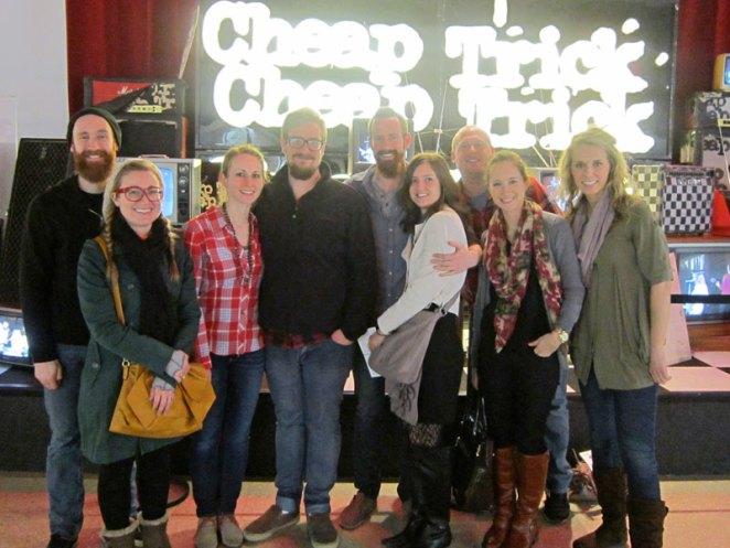 The Rick's Pick Crew (L to R): Nathan, Jessica, Kari (Jordan's wife), Jordan, David, Karyn (David's wife), Erik Lang, Katie Lewis, and Libby