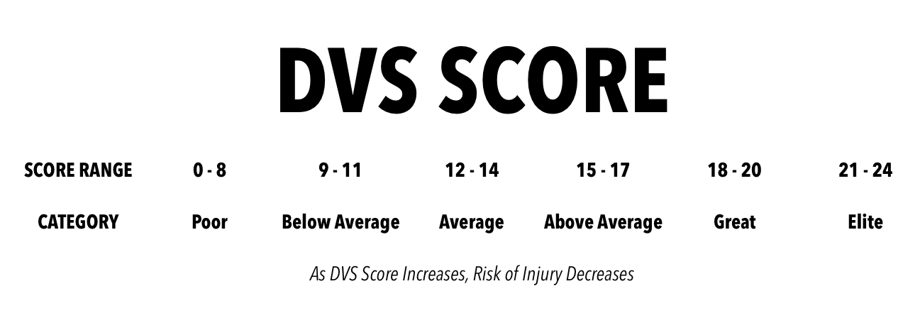 DVS Score Table