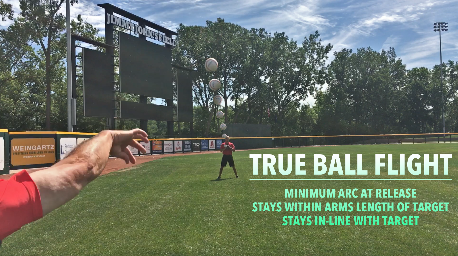 True Ball Flight - With our built in True Ball Flight Criteria and accuracy protocols, you will learn how to maximize the repeatability of your throwing motion to increase efficiency in each throw which ultimately leads to increase performance in games. The online program teaches you how to evaluate the flight of each throw so you can continually strive to produce the same release point in each phase of the program. Pitchers will be encouraged to complete the program through their pitching delivery whereas position players will strive to complete the throwing program through their position-specific throw.