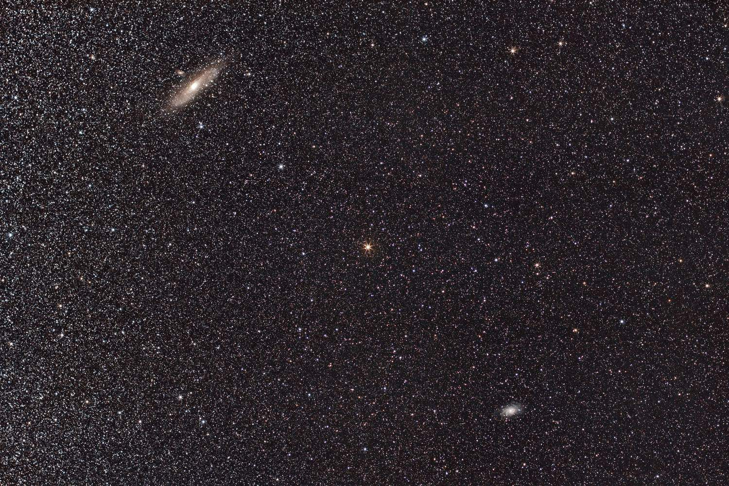 M31, Andromeda & M33, Triangulum galaxy!    51x240s - f/4.5 - ISO 800 - EOS 1200D (Astrodon) - EF 50mm f/1.4 - SkyWatcher Star Adventurer - 10 DARK - 10 BIAS - 10 FLAT - Mac OS + PixInsight + Canon DPP 4 - 5000x3333 px.  Domagnano, Rep. of San Marino, 28 September 2016.