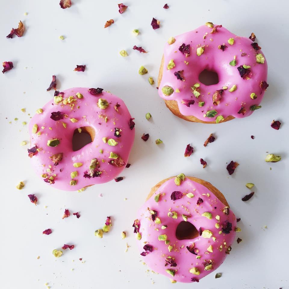 Rose and pistachio