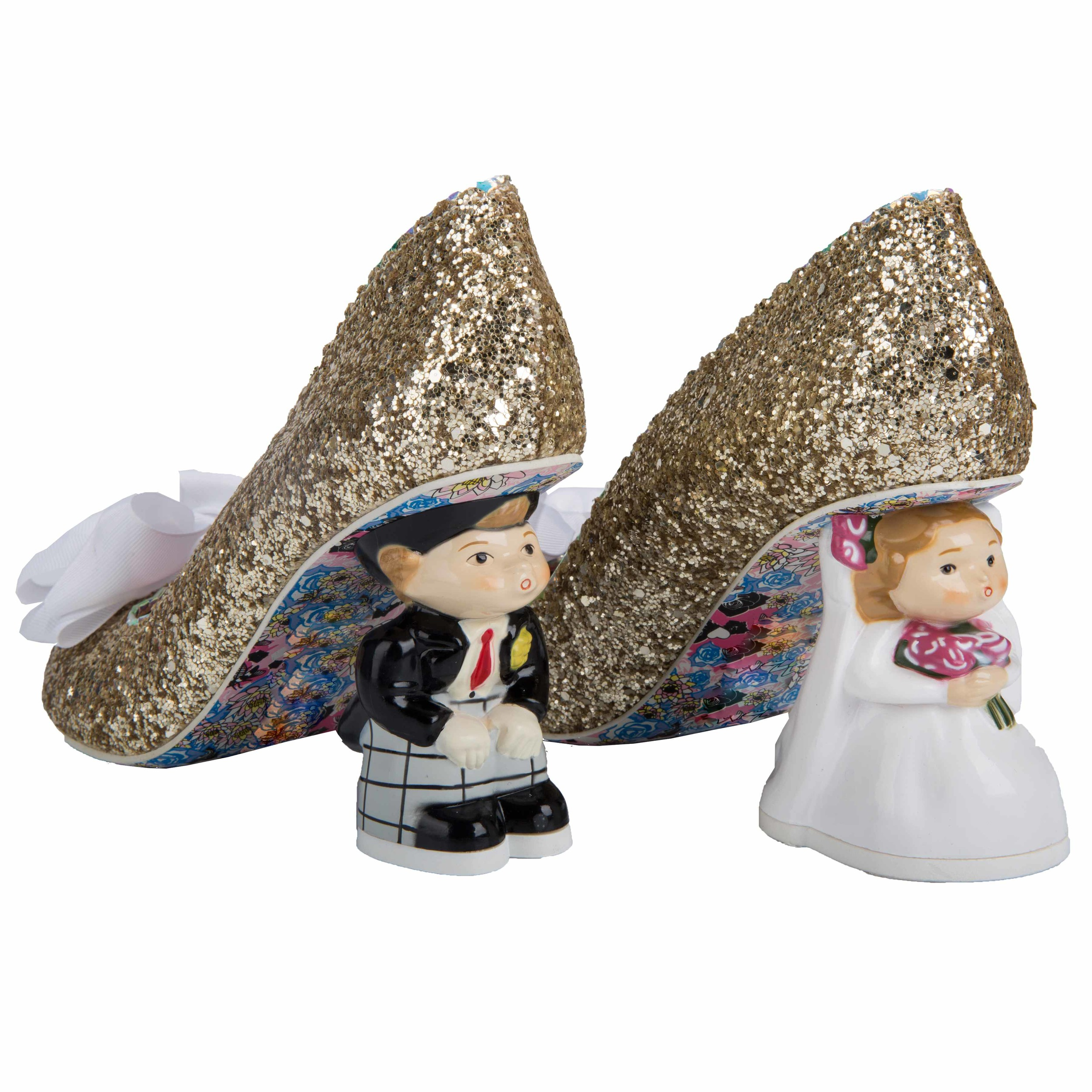 Heaven Has Heels Bride and Groom Heels