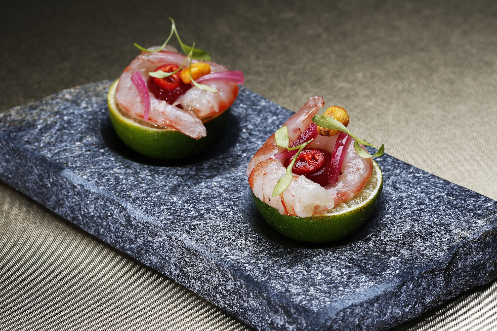 Mini Bar - Algarve prawns in ceviche.JPG