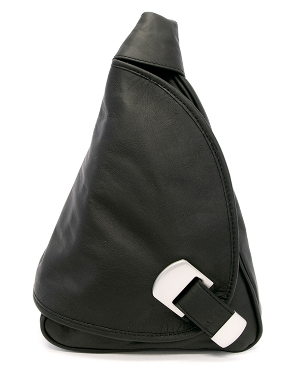 Tiny Triangle Backpack in Black, AllesBags.com
