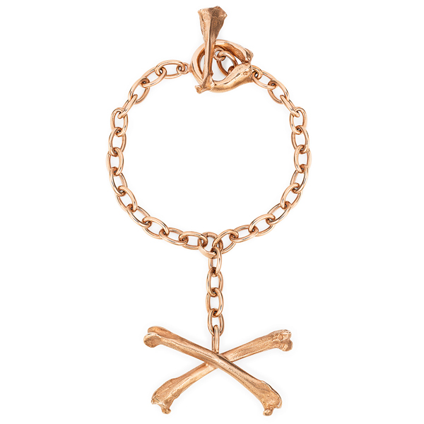 1. Claire English - Special Jewellery Co The Magpie Crossbones Bracelet Rose Gold 2015.jpg