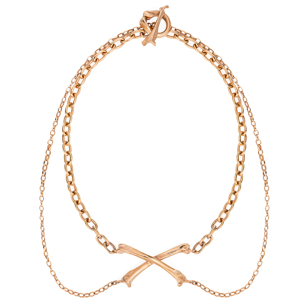 1. Claire English - Special Jewellery Co The Magpie Crossbones Necklace Rose Gold 2015.jpg