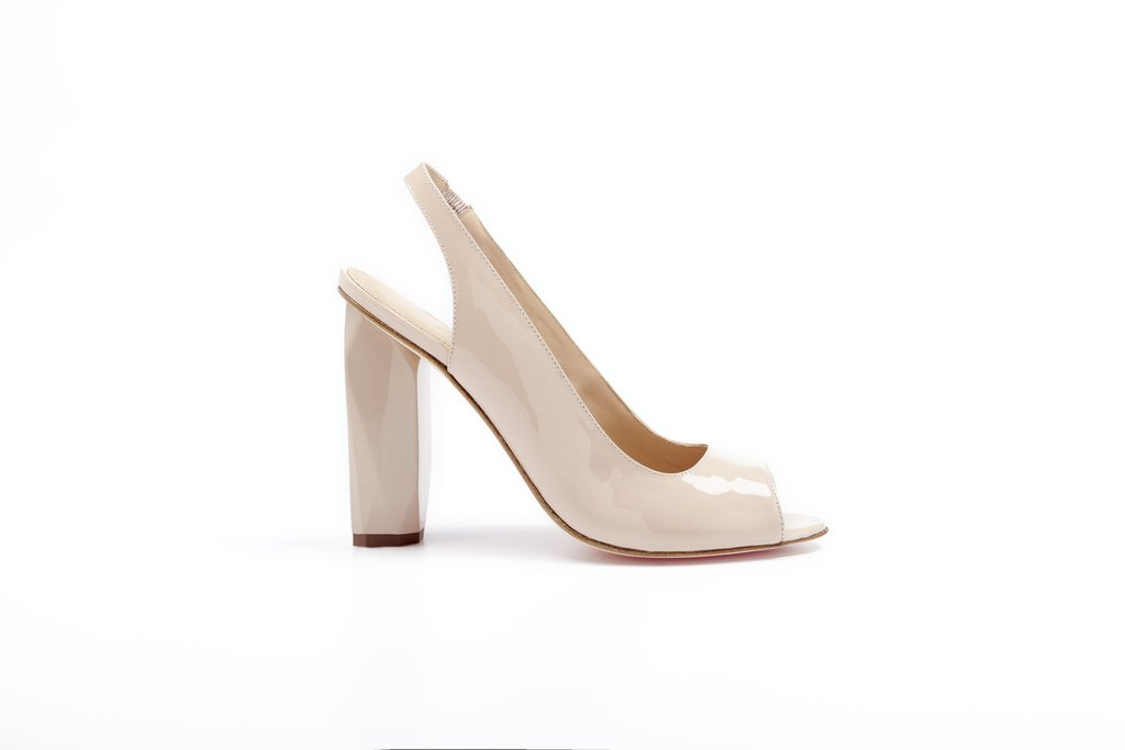 Candy Lollipop . Peep Toe . Ivory Nude