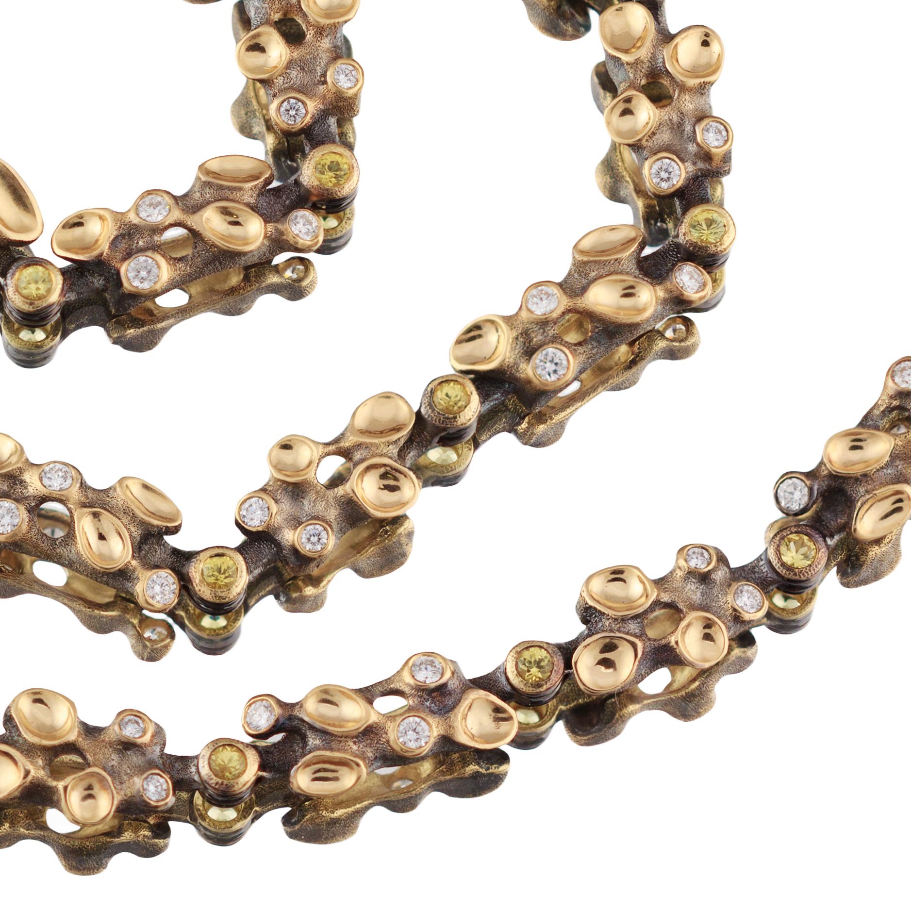 Wild Harvest.18K gold and diamond bracelet.jpg