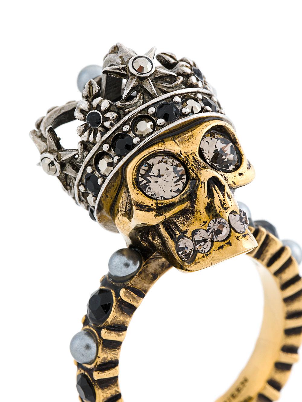 ALEXANDER MCQUEEN King Skull ring $395.00, Zappos.com