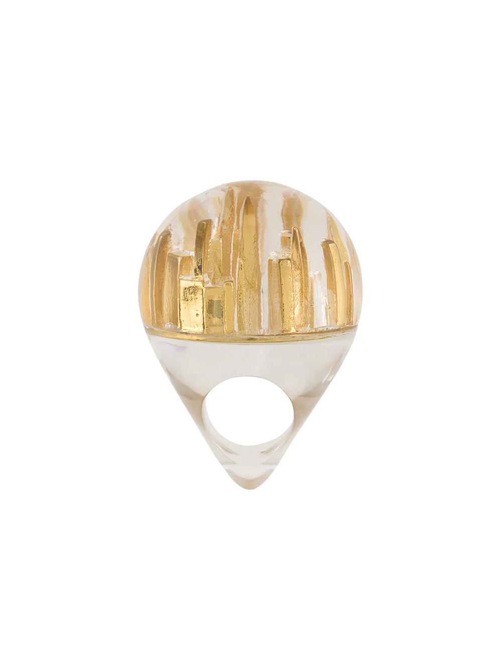 CATALINA D'ANGLADE  Big Apple ring $553.00, FarFetch.com
