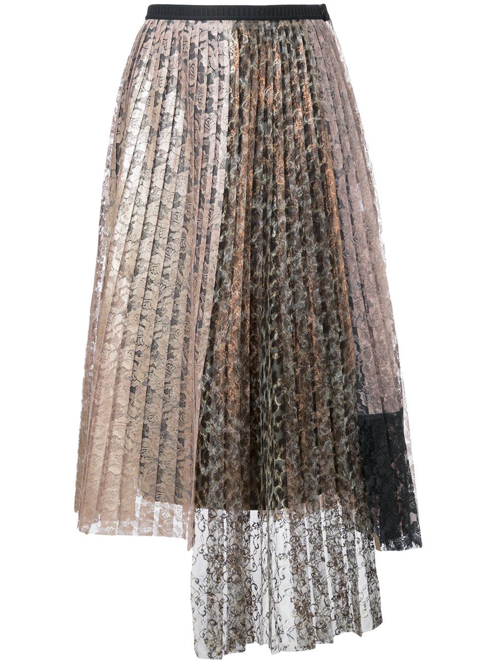 ANTONIO MARRAS lace pleated skirt, FarFetch.com