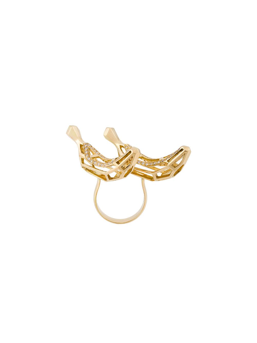NATASHA ZINKO Double Banana ring, FarFetch.com